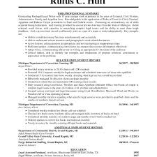 Personal Injury Paralegal Resume Sample by Paralegal Assistant Resume Templates Sample Paralegal Resume Entry