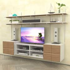wall mounted media center with open box cabinet u2013 modern shelving