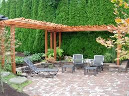 garden marvelous backyard landscape design with bricks stone floor