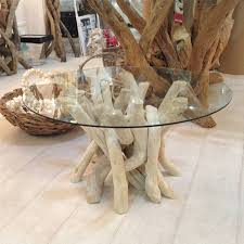 driftwood glass coffee table for nature lovers u2013 driftwood oval