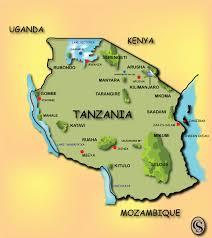 Tanzania Map Tanzania Safari Game Parks Canvas Safaris