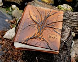 Leather Photo Albums Engraved Wedding Leather Photo Album 13 X 9 With Tree Of Life For 300