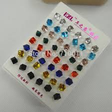 changing earrings free shipping wholesale 4mm 6mm colour changing made