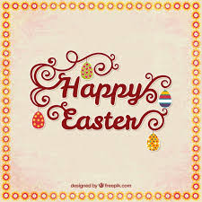 happy easter cards happy easter card with lettering vector free