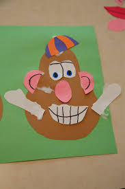 toddler craft activity mr potato head mr potato head craft