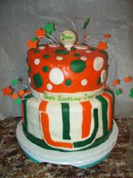 birthday cake miami hurricanes golf cakecentral com