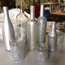silver wine bottles best 25 silver centerpiece ideas on silver wedding