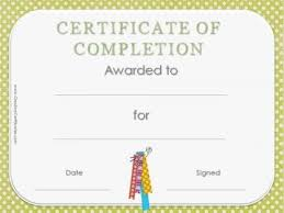 examples of certificates of completion best 25 certificate of completion template ideas on pinterest