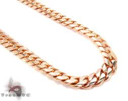 rose gold necklace chains images 14k rose gold miami cuban chain 30 inches 9mm 178 3 grams 32040 jpg