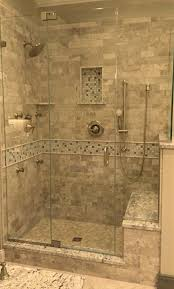 Master Bath Shower Another Example Of Shower Bench Joining Tub Surround Note The