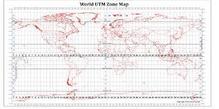 utm zone map utm zones map of the