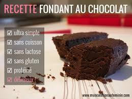 recette cuisine gateau chocolat gâteau fondant au chocolat riche en protéines et sans cuisson