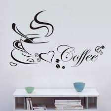 love decorations for the home love coffee stickers shop kitchen decorations 8347 diy home decal