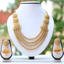 necklace set 1 gram gold jewellery swarajshop imitation necklace sets online