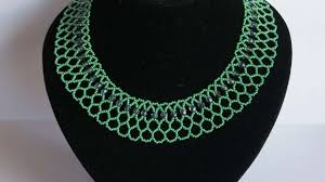 bead necklace style images How to make a necklace with green beads diy style tutorial jpg