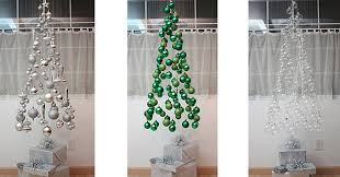 decorations unconventional christmas tree also silver balls