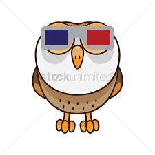 free owl wearing 3d glasses vector image 1512573 stockunlimited
