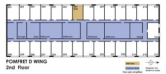 Building Floor Plan University Housing Campus Communities Pomfret Information