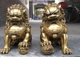 foo lion statue china regius brassdoor talisman fu foo font b dog b font evil