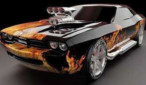 custom dodge challenger custom dodge challenger with paint flames and side exhausts
