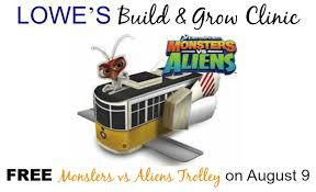 free monsters aliens trolley lowe u0027s build u0026 grow clinic