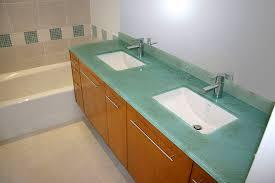 Glass Bathroom Sinks And Vanities Brilliant Clear Glass Bathroom Vanity Countertop 1 Sinks Gallery