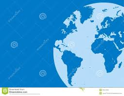 world map in the blue color stock images image 30447294