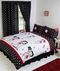 Betty Boop Bathroom Accessories Uk by Betty Boop Reversible Bedding Duvet Quilt Cover Set Polka Red Lips