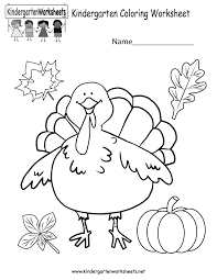 Thanksgiving Coloring Sheets Kindergarten Thanksgiving Coloring Worksheet Free Kindergarten Holiday