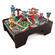 kidkraft train table set super highway train set and table