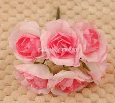 bouquet diy aliexpress com buy artificial mini paper roses mulberry paper