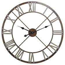 decorative clock open center iron wall clock 27