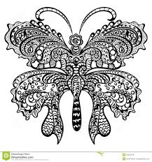 butterfly with swirling decorative ornament royalty free stock