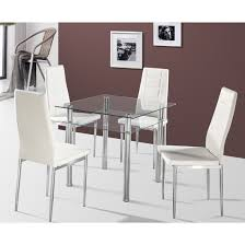 Black Glass Dining Room Sets Callisto Clear Glass Dining Table And 4 Nova Dining Chairs