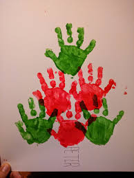 baby and me christmas craft ideas handprint christmas tree