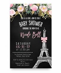 eiffel tower wedding invitations baby shower invitation eiffel tower