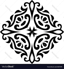 abstract mehndi ornament royalty free vector image