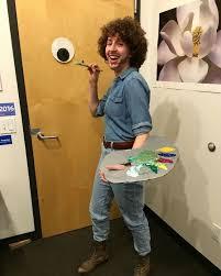 diy bob ross halloween costume for curly hair naturallycurly com