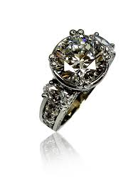 cubic zirconia white gold engagement rings cubic zirconia rings engagement rings 4 carat brilliant cut
