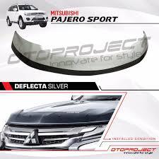 All New Pajero Sport List Kap Mobil Depan Molding Chrome jual deflecta talang pelindung kap mesin all new pajero sport