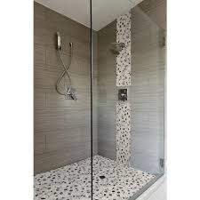 Shower Floor Mosaic Tiles by Ms International Metro Charcoal 12 In X 24 In Glazed Porcelain