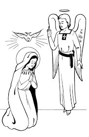 virgin mary for kids coloring page free download