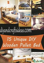 Making A Pallet Bed 15 Unique Diy Wooden Pallet Bed Ideas Diy And Crafts