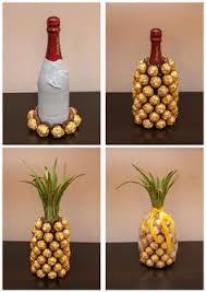 geschenke zum hochzeitstag fã r sie mitbringsel rocher sekt ananas bastelideen kreativ