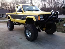 yellow jeep built yellow 89 comanche lifted jeep cherokee forum