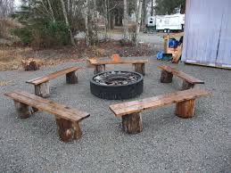 tables made from logs garden furniture made from logs best of i like the fire pit benches