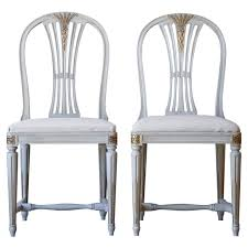 set of 6 vintage gustavian dining chairs circa 1920 at 1stdibs