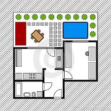 house layout clipart floor plan with garden