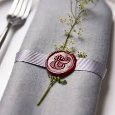 ampersand wax seal stamp wax seals wax and place setting