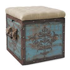 Storage Ottoman Blue Teca Storage Ottoman Blue American Signature Furniture